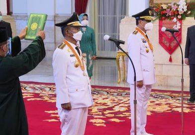 Gubernur dan Wakil Gubernur Sulawesi Tengah Masa Jabatan 2021-2024 Dilantik Presiden Jokowi