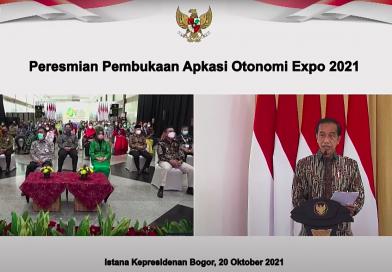Buka Apkasi Otonomi Expo Tahun 2021, Presiden Dorong Daerah Tingkatkan Volume Ekspor